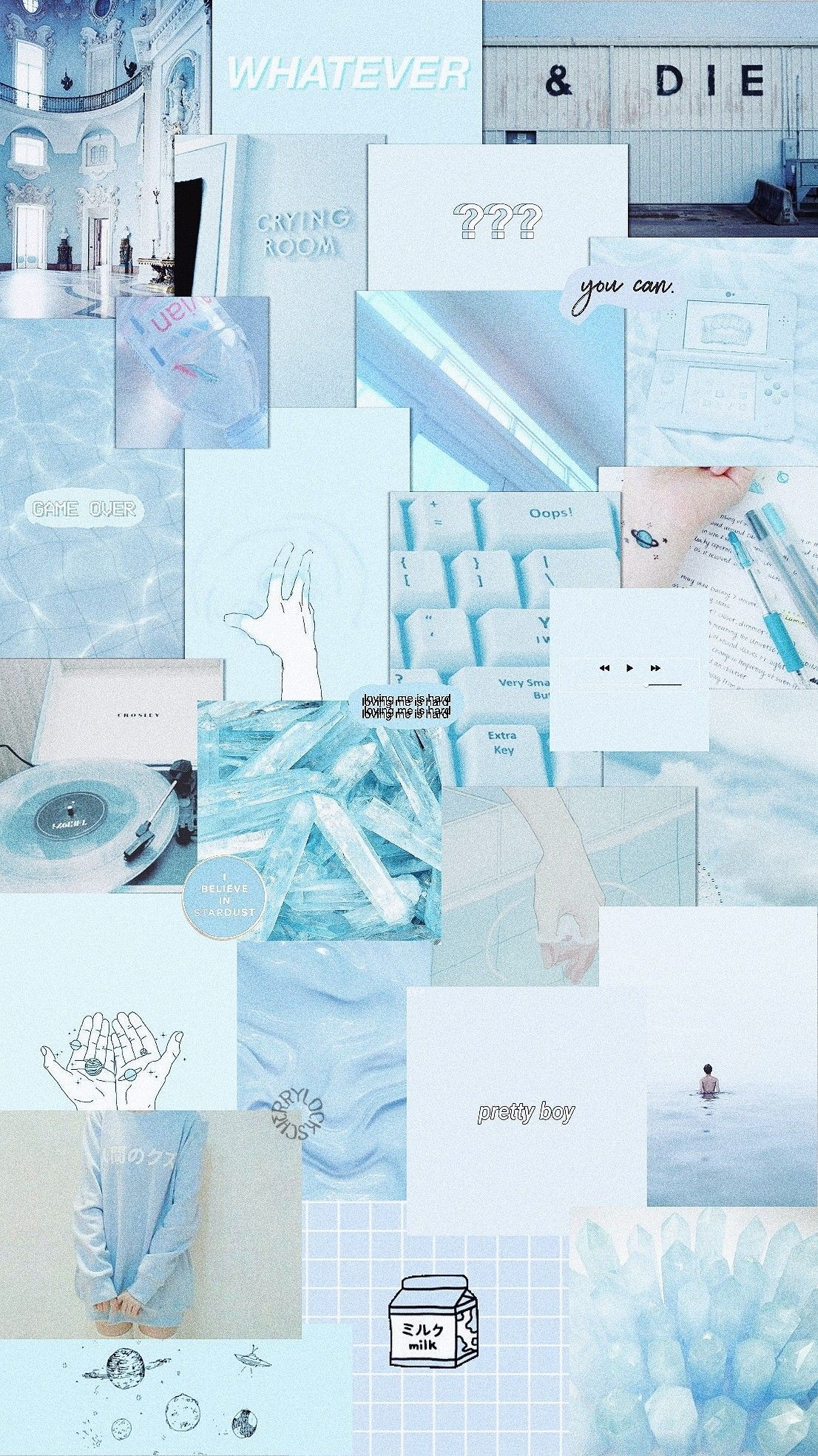 Blue Aesthetic Collage Wallpaper : aesthetic, collage, wallpaper, Aesthetic, Collage, Wallpaper, Pastel,, Iphone,, Iphone