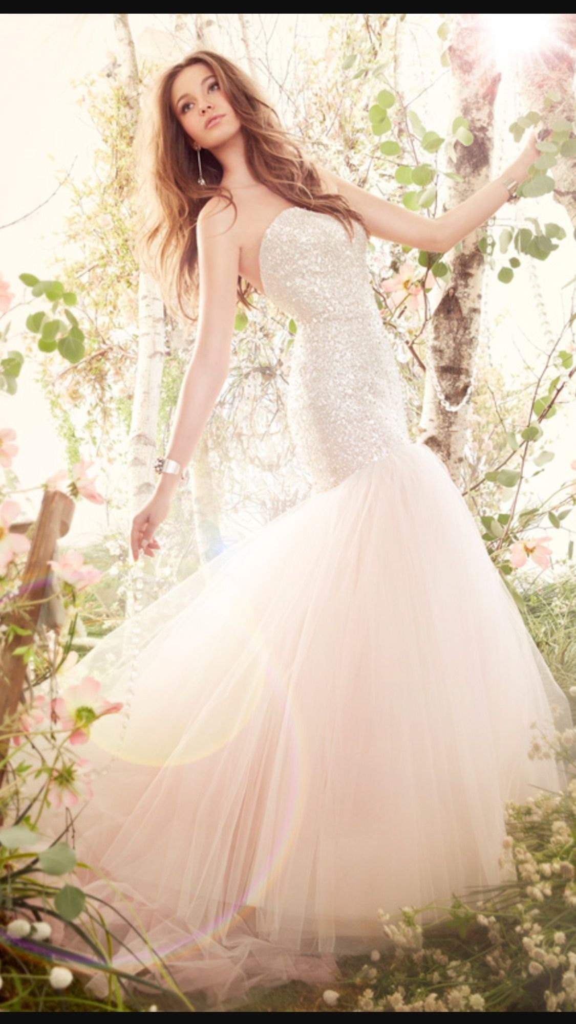 Blush Tulle Silk 8416 Modern Wedding Dress   Jim hjelm wedding ...