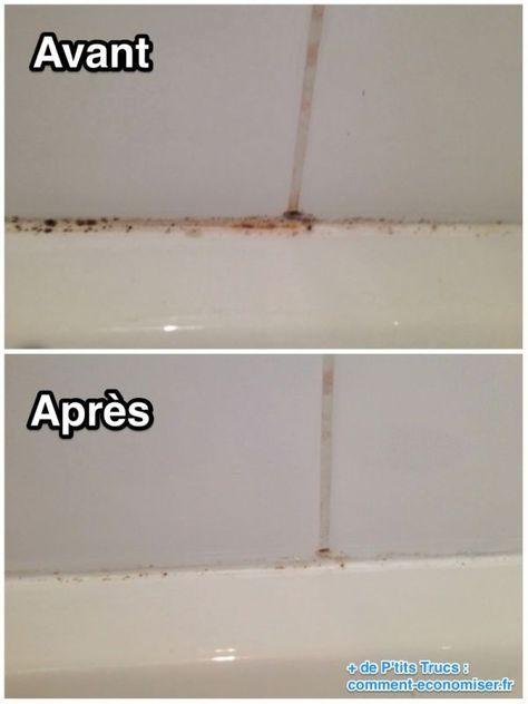 Lu0027Astuce qui Marche Pour Enlever la Moisissure des Joints de Carrelage - moisissure carrelage salle de bain