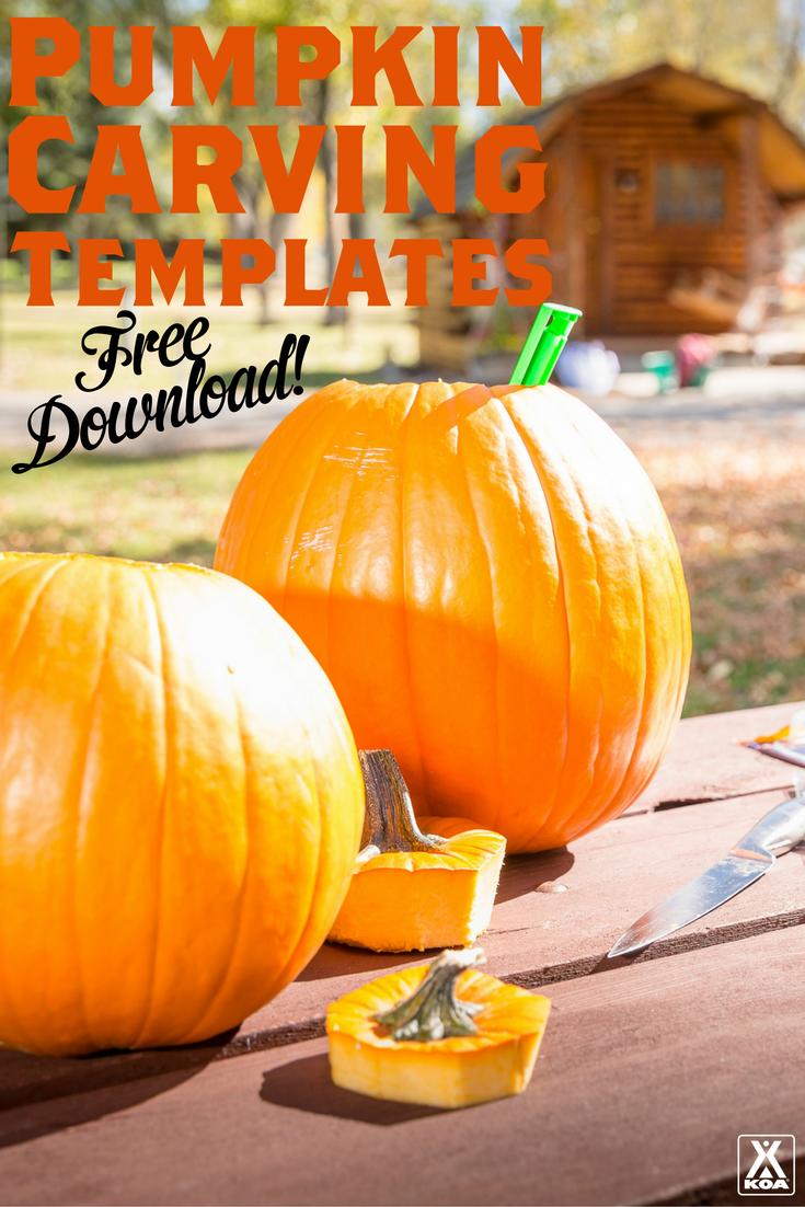 Free campingthemed pumpkin carving templates pinterest pumpkin