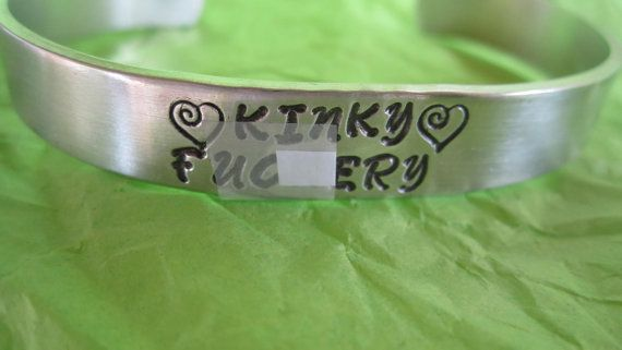 Kinky Fukery bracelet  censored for Etsy inspired by ImpressedArt, $13.50
