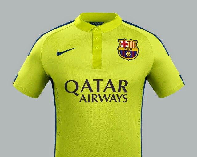 991ccad855 Barcelona s third kit design for the season was so elegant with a polo  collar and buttoned