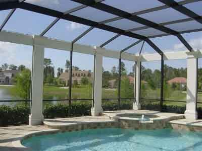 Decorative Columns For Pool Enclosures Screen Rooms Other Enclosures By Florida Pool Enclosures Florida Pool Pool Enclosures Pool