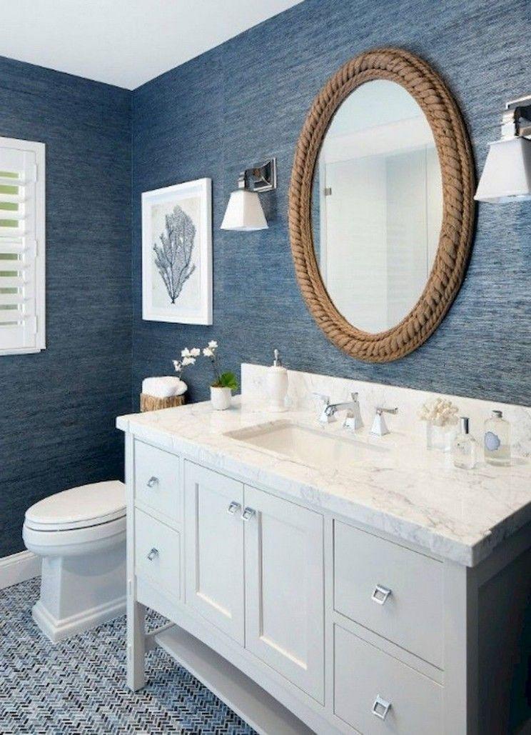 Ideas For Blue And White Bathroom Bathroom Remodel Designs Coastal Bathroom Design Beach Bathroom Design