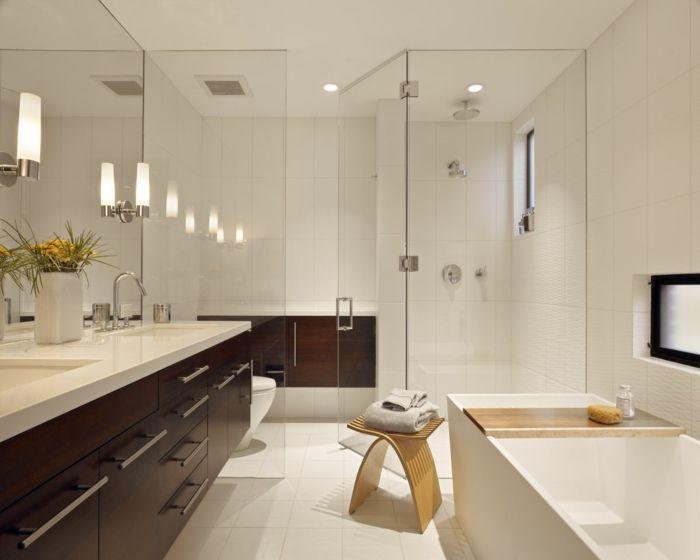 badeinrichtung feng shui stauraum spiegel wandleuchten badewanne - pflanzen für badezimmer