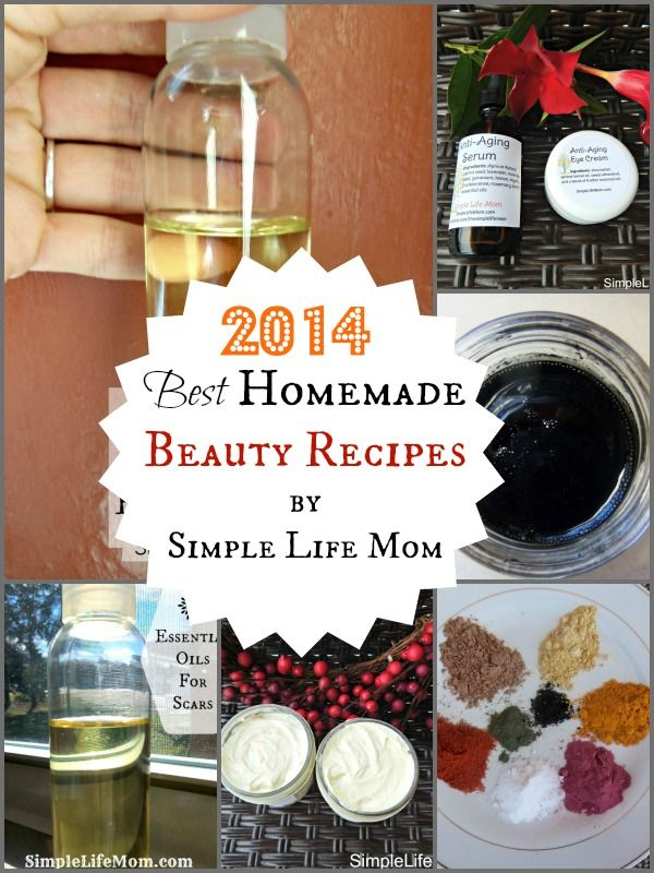 2014 Best Homemade Beauty Recipes - lotion, lip balm, homemade makeup, anti aging recipes, and more by Simple Life Mom
