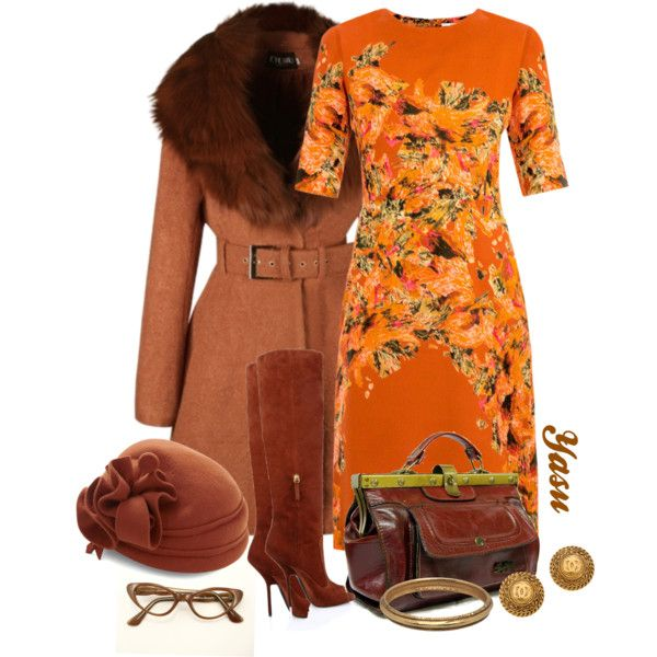 """Vintage Orange Blossom"" by naturalhair on Polyvore"
