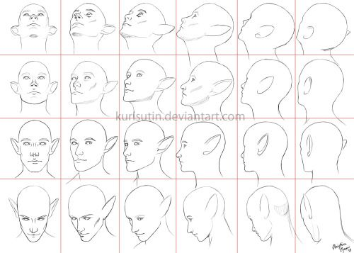 Drawing Art Head Draw Skull View Human Anatomy Turn Direction Reference Tutorial Angle Turning Directions Jaw Heads Angle Head Angles Face Angles Drawing Heads