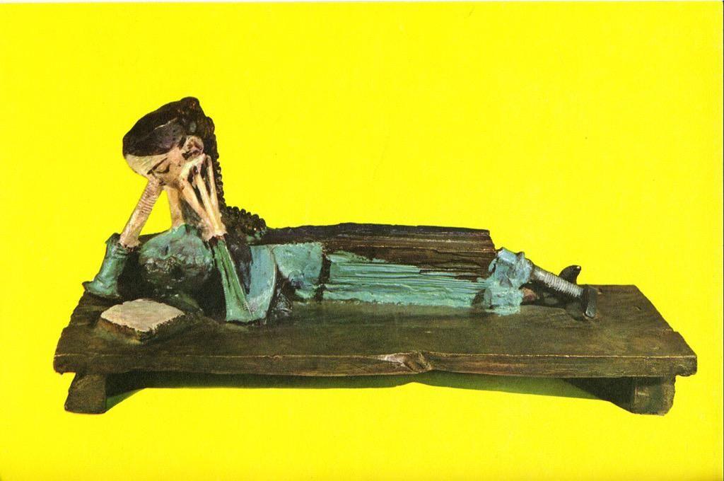 #Expressionism #sculpture  Pablo #Picasso  Woman Reading,1953 #DonneInLettura @alecoscino @Asamsakti @LuciaTassan