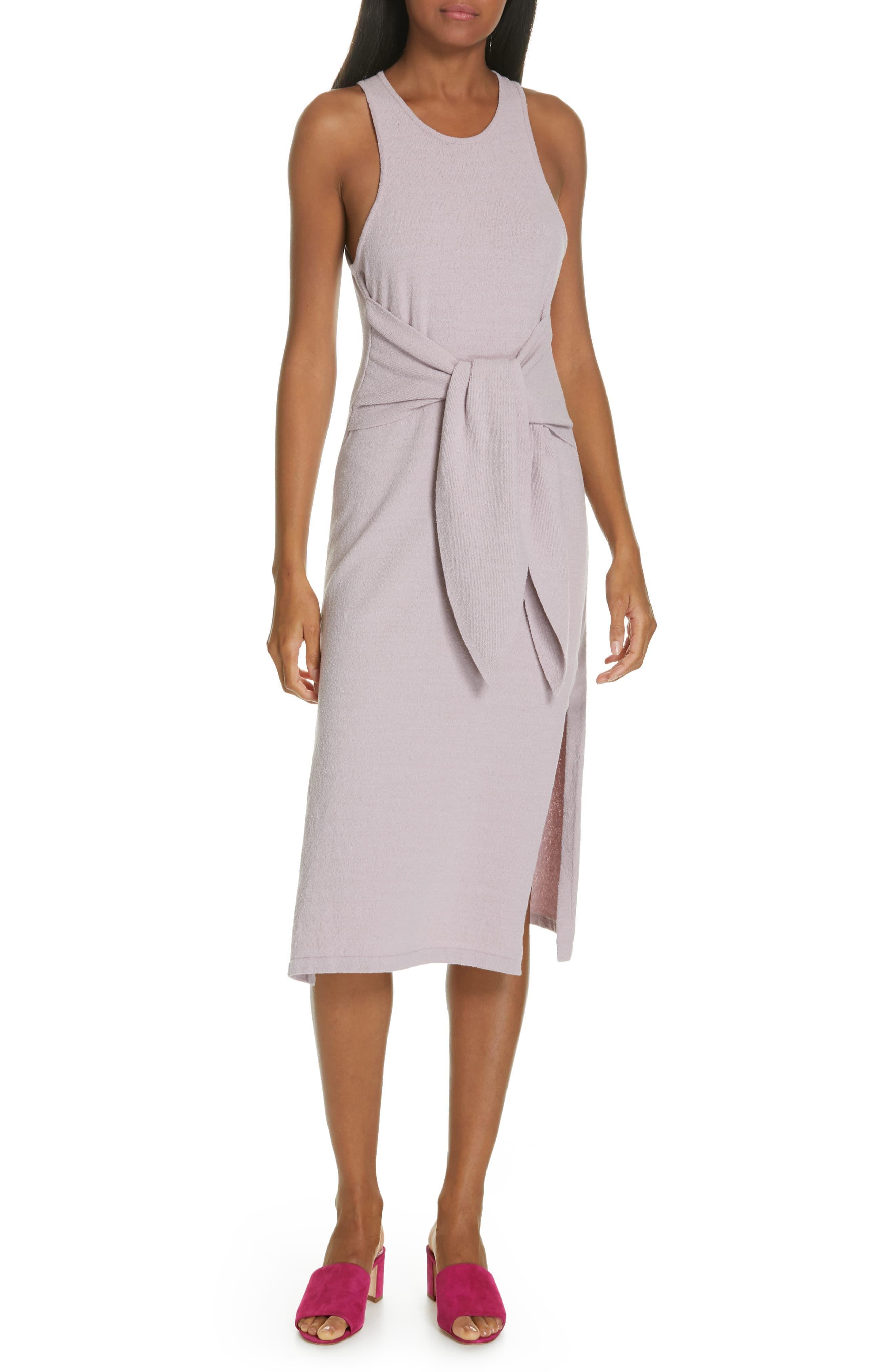 fb17eaa6ead3e Women's Nanushka Mame Tie Waist Knit Midi Dress, Size X-Small - Purple