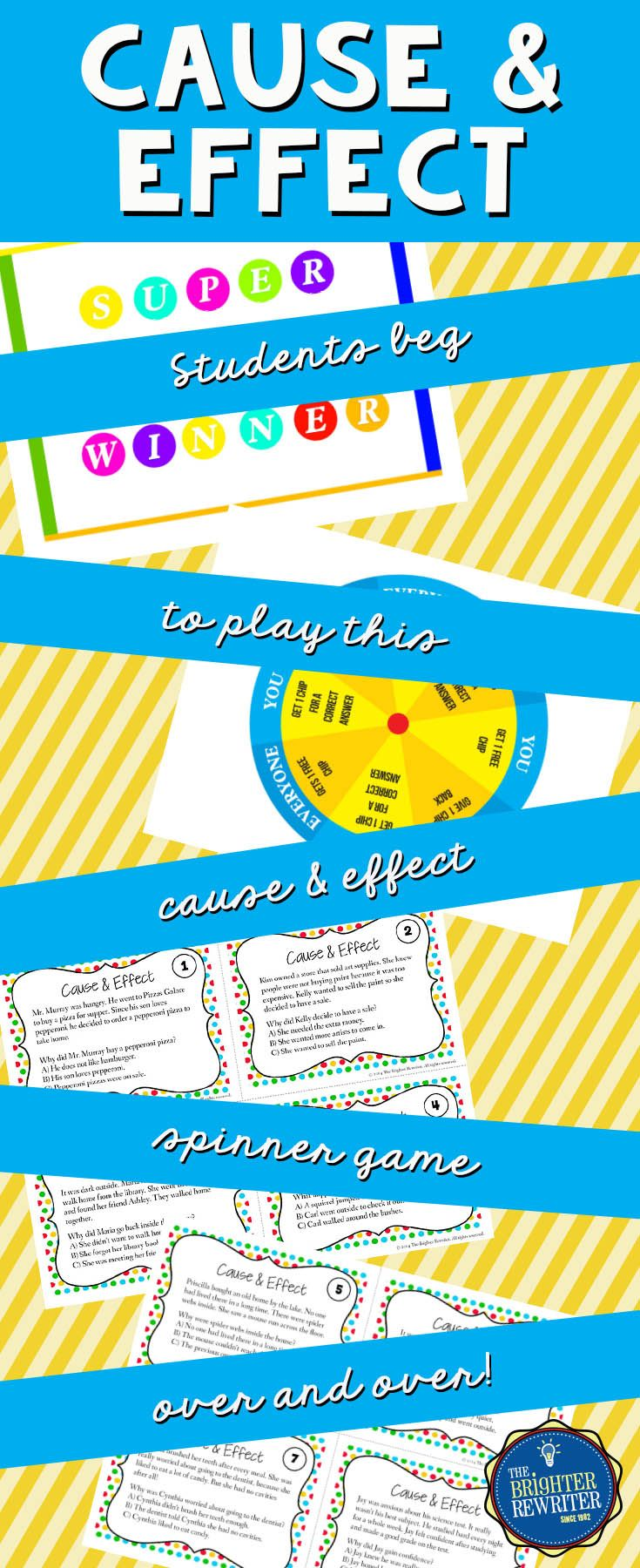 Cause and Effect Task Cards and Game | Pinterest | Worksheets ...