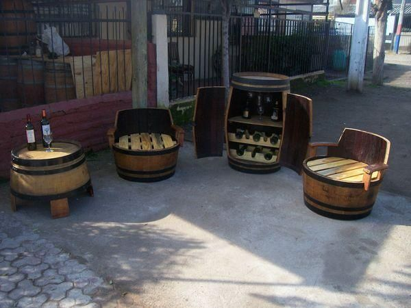 Barril bar mesas sillones proyecto pinterest for Barril mueble bar