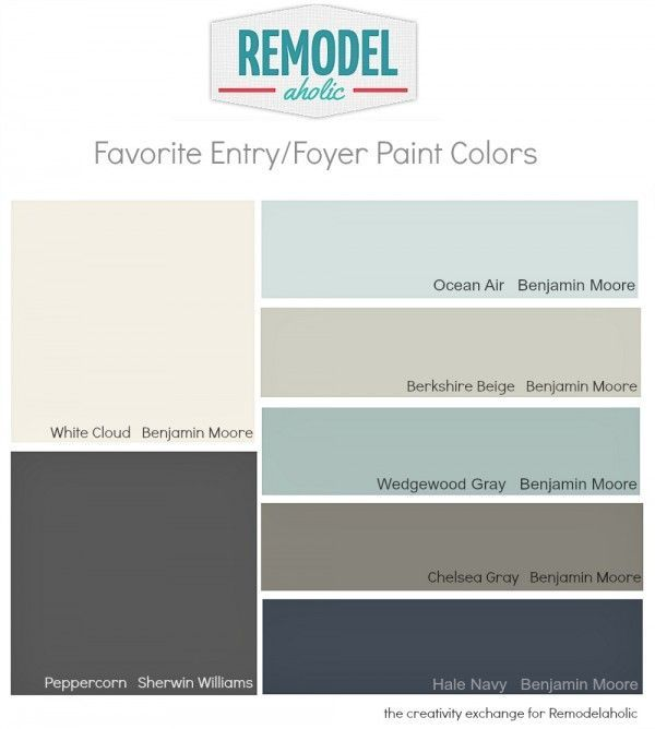 Paint Ideas For Entryway favorite entryway and foyer paint colors (remodelaholic) | foyer