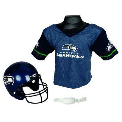 seattle seahawks helmet and jersey