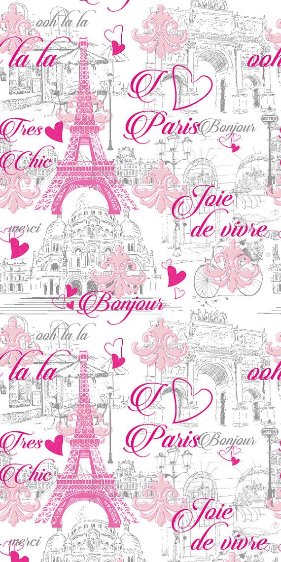Removable Wallpaper Paris Decor Paris Bedroom By BCMagicWallpaper Pink Paris  Wallpaper, Pink Wallpaper Bedroom,