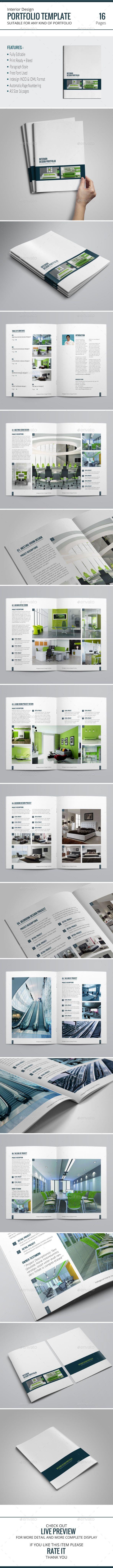 Portfolio Brochure Template — InDesign INDD #clean portfolio #photography portfolio • Available here → https://graphicriver.net/item/portfolio-brochure-template/9719532?ref=pxcr