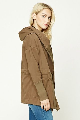 Contemporary Hooded Wrap Jacket
