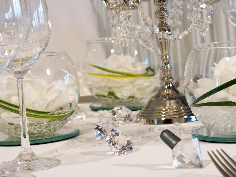 Kristall Deko glitzernde deko diamanten tischdekoration kristall klassik