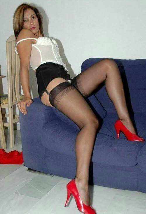 milfs lingerie and in heels Sexy