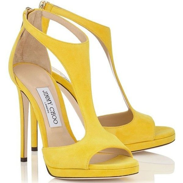 Sexy yellow occasion shoes