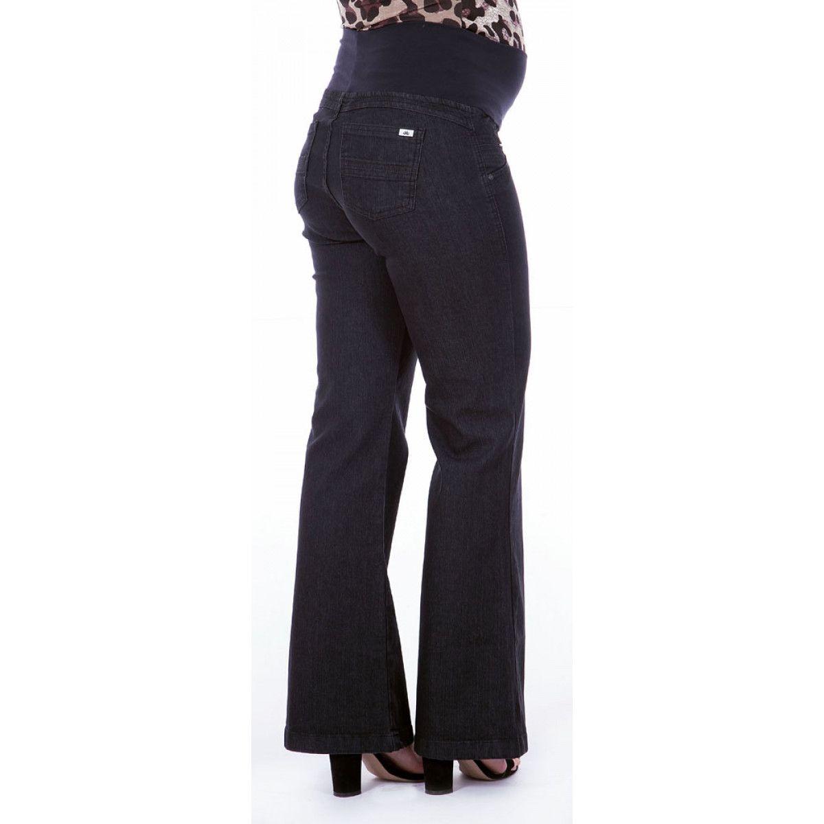 fccdfc645 Calça Jeans Gestante Emily Flare - Preto