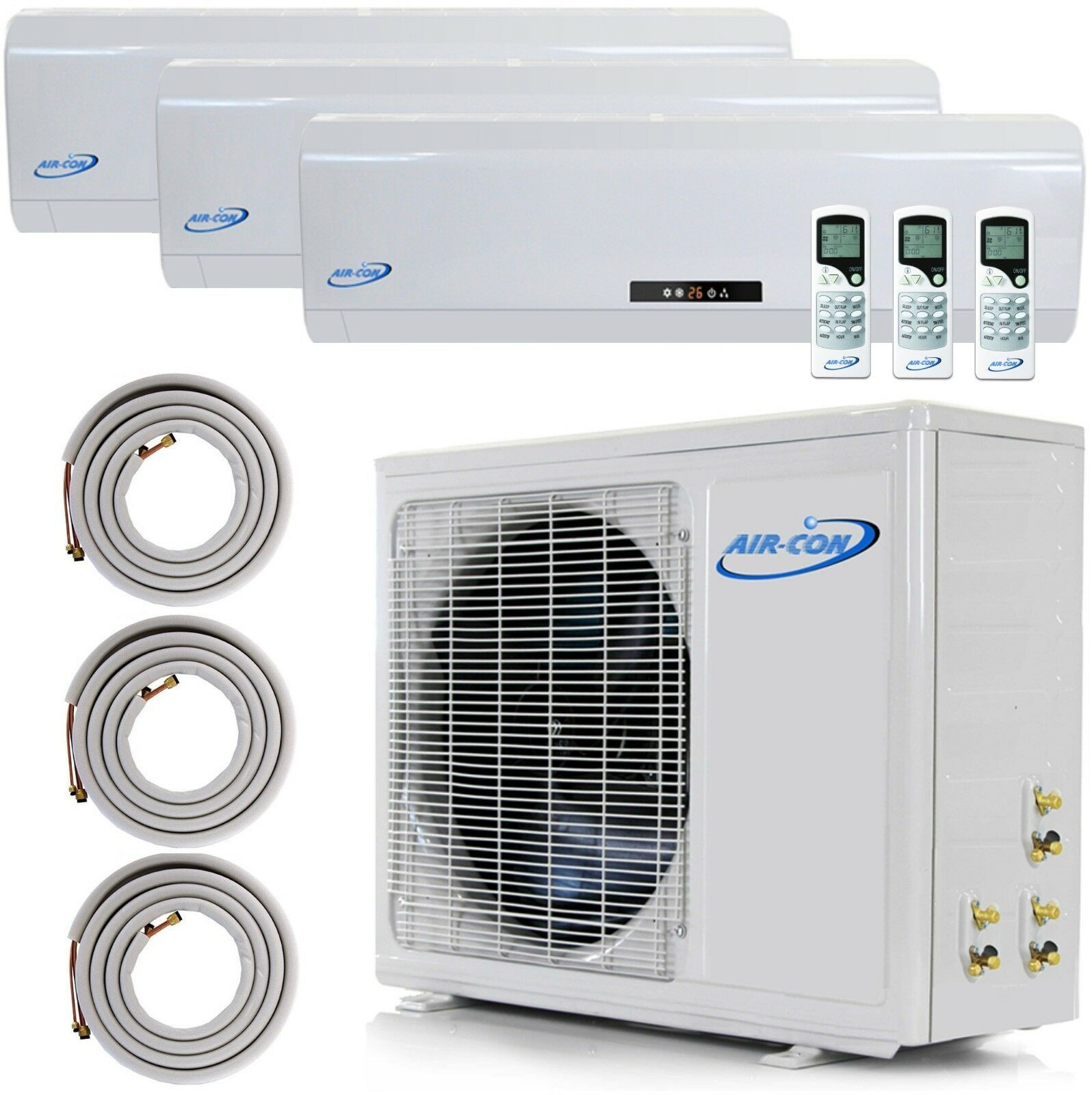 3 Zone Mini Split in 2020 Ductless air conditioner
