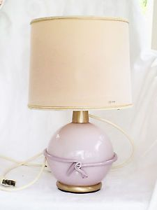 Vintage-1970s-Murano-Glass-Boudoir-Lamp-Signed-La-Murrina-Mauve-Pink-Rare