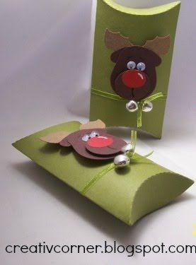 creativcorner pillow box die su pinterest weihnachten geschenke and kinderbasteln. Black Bedroom Furniture Sets. Home Design Ideas