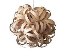 Dahlia Pendant Oak Wooden Ceiling Light Chandelier Wood Modern Rustic