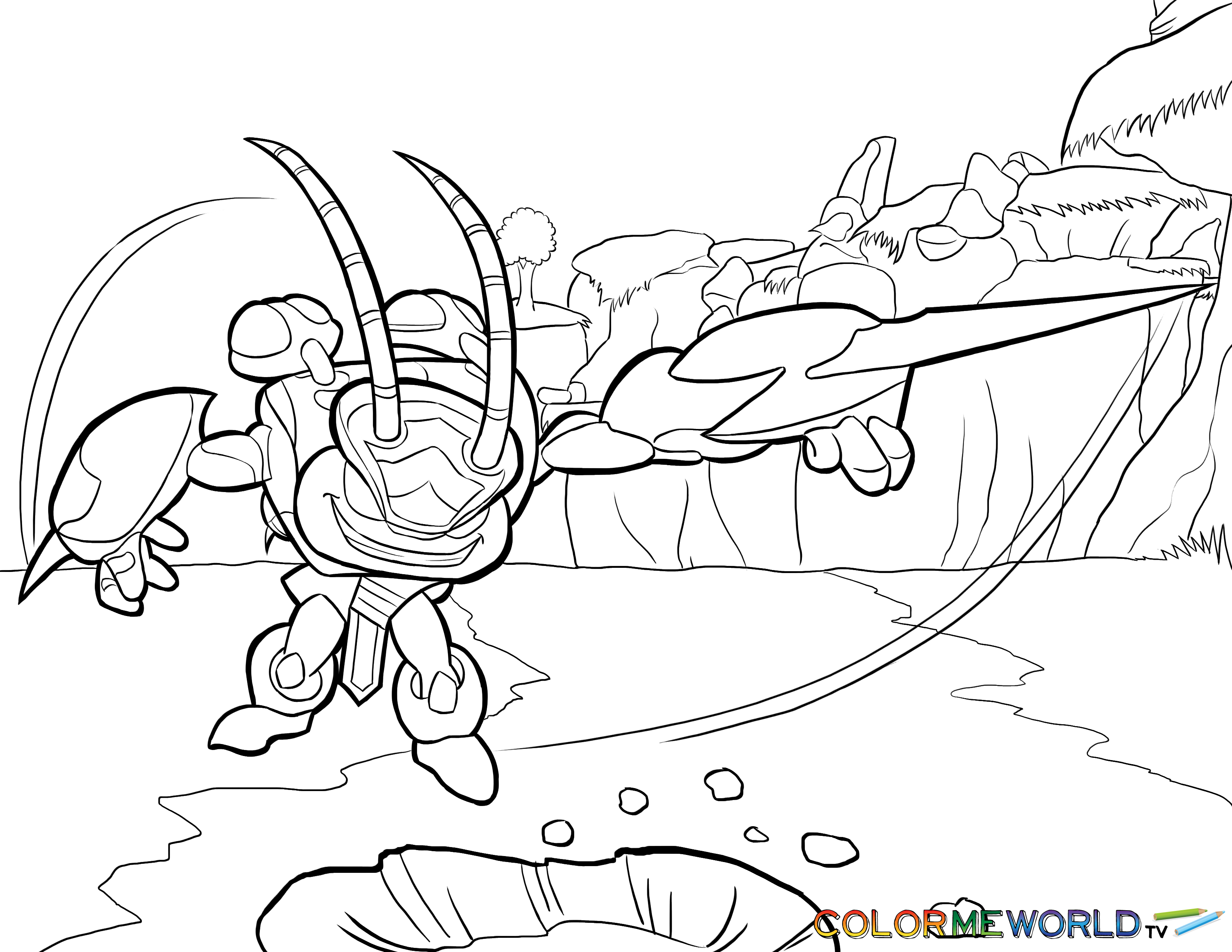Fancy Skylander Coloring Pages