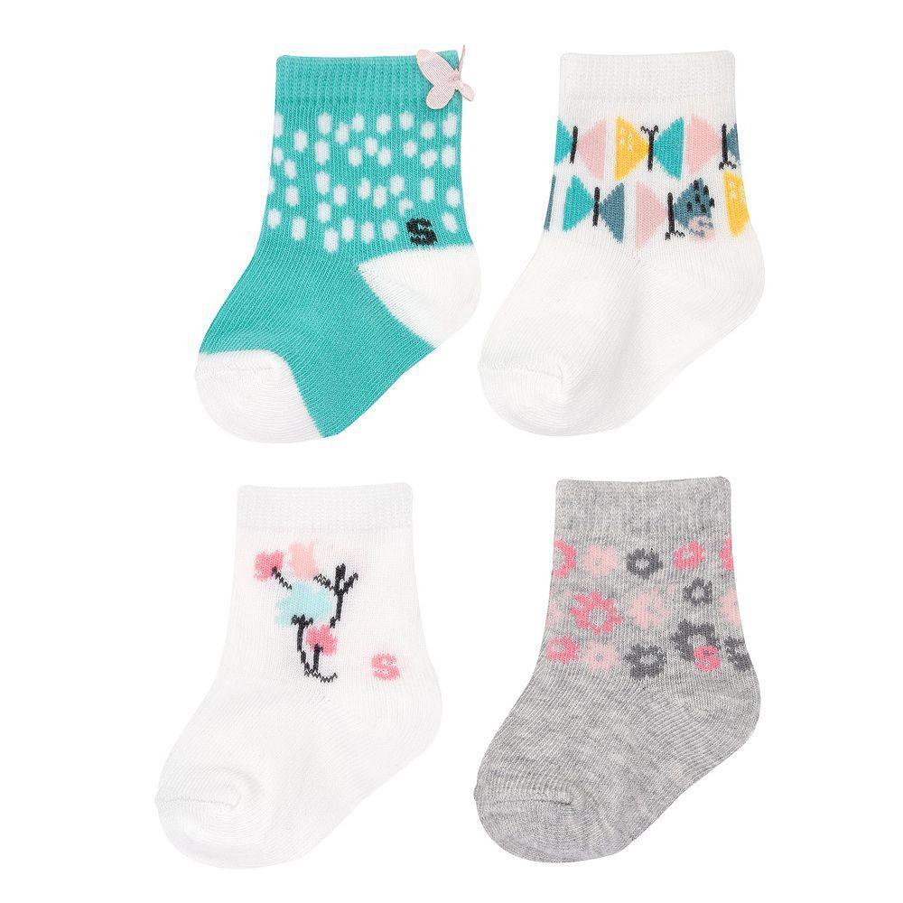 4 Pack Baby Infants Boys Girls Cotton Socks for New Born Child