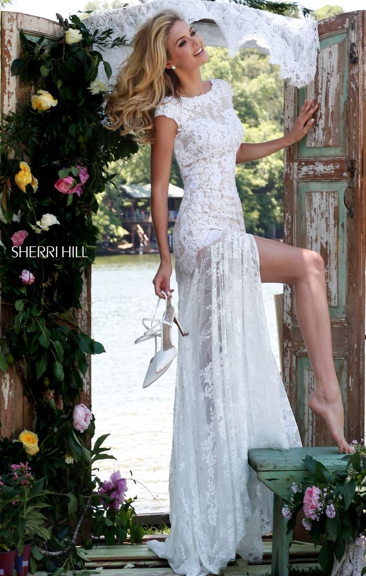 Sherri Hill But the back is so low | Wedding gowns, jumpsuits ...