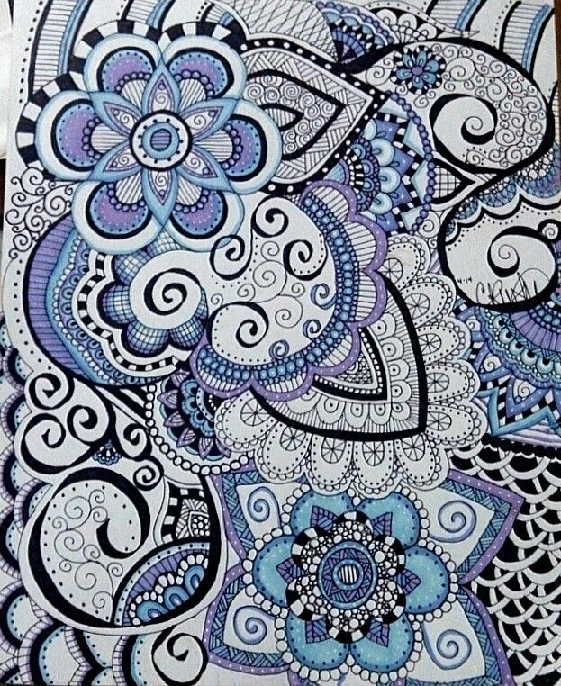 Zentangle Art Flowers