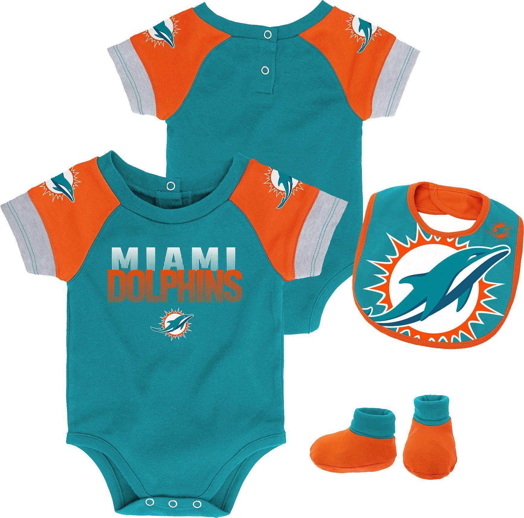 51e8cba9ba0 NFL Team Apparel Infant Miami Dolphins 50-Yard Onesie Set