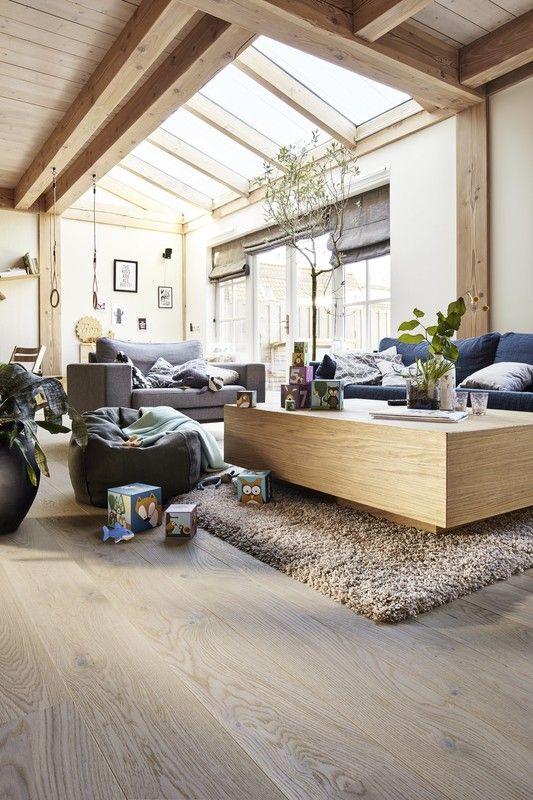 Parkett Classic | Pd 200 | Eiche Rustikal Cremeweiß | 8489 ... Wohnzimmer Cremeweis