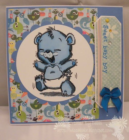 The Crafty Cuttings of Wiccababe: new baby card