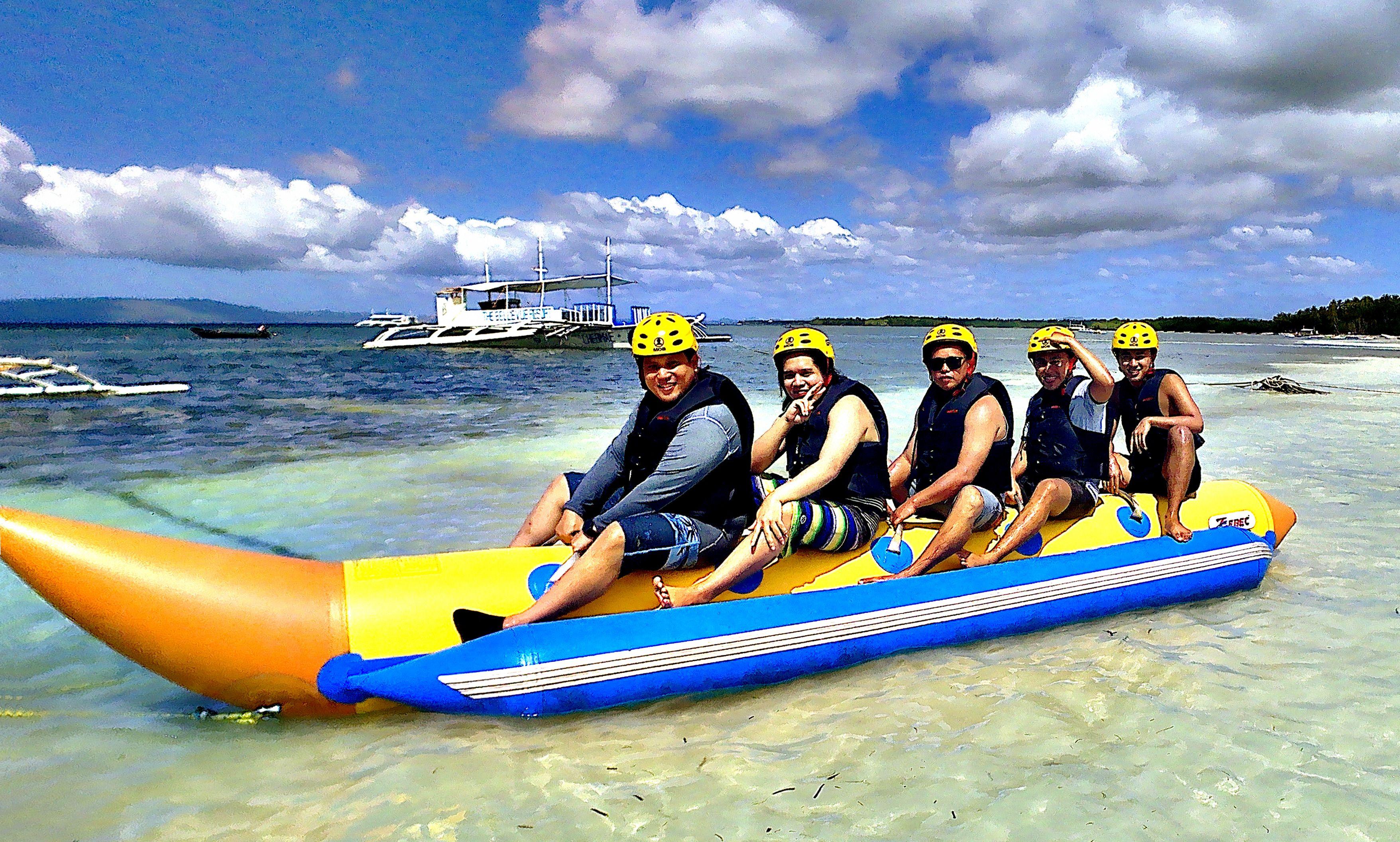 Banana Boat Ride In Bohol Banana Boat Tow Boat Boat