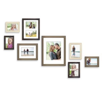 Buy Wall Solution 8 Piece Gallery Frame Set In Assorted Finishes And Sizes From Bed Bath Beyond Gallery Frame Set Wall Frame Set Frames On Wall