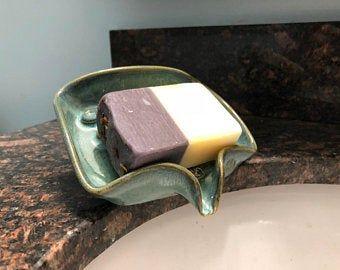 Pottery soap dish | Etsy