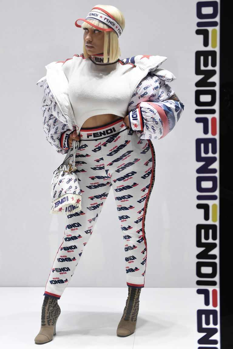fdf6eb85bb5b This article from Elle talks about the Fendi and Fila collaboration. They  are using celebrities to promote their brand. Like Nicki Minaj who wore the  brand ...