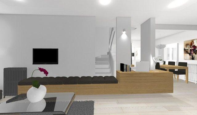 La maison france 5 exploiter un pilier dans un s jour et cr er du rangement decoration - La maison du rangement ...