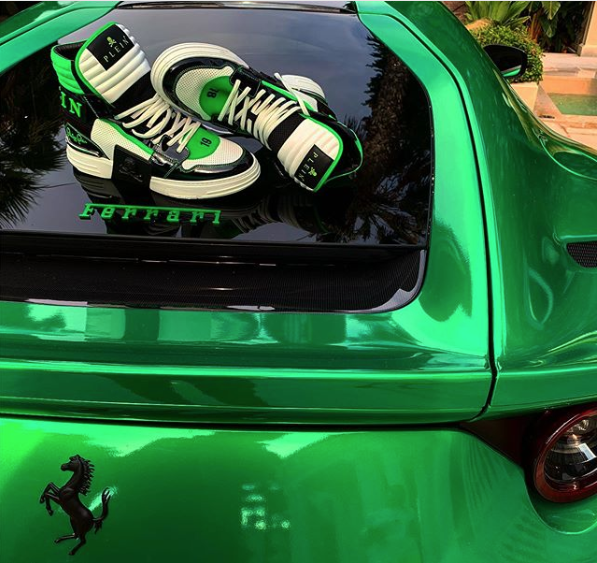 Is A Fashion Designer Entitled To Post An Image Of His Branded Sneakers Atop A Ferrari If That Designer Is The Owner Of Said Ferrari Omni Legal Group Blog Ferrari