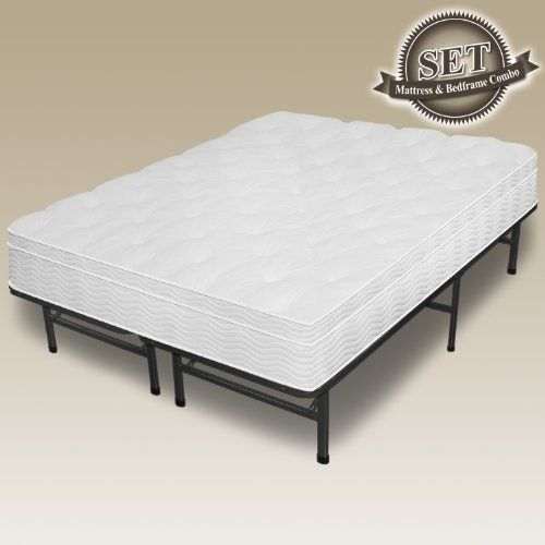 Sleep Master 12 Euro Box Top Pocketed Spring Mattress And Frame Set Full By Sleep Master 364 99 Pocket Spring Mattress Mattress Frame Mattress Furniture