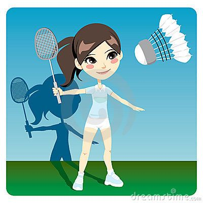 Playing Badminton With My Sisters And Brother All The Time We Never Used The Net We Had A Telephone Line Runn Badminton Vector Art Illustration Illustration