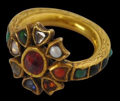 Indian Gold Navaratna Ring Jewels Pinterest