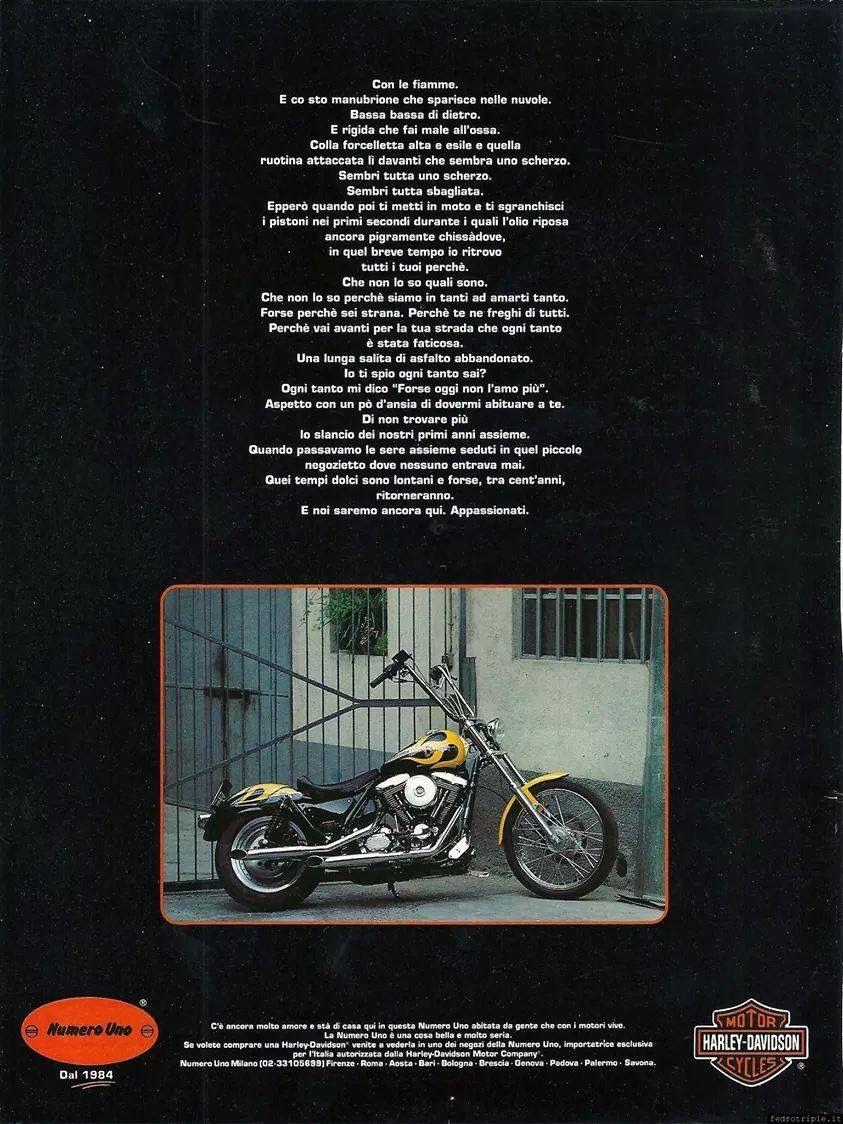 Numero Uno Milano adv Harley-Davidson