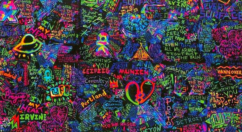 In My Place Coldplay Wallpaper Coldplay Art Coldplay