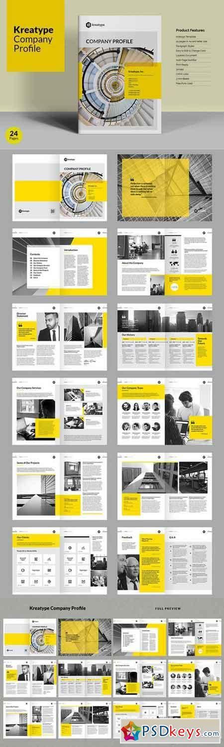 Kreatype Company Profile 840240 Editorial Design Pinterest - company profile