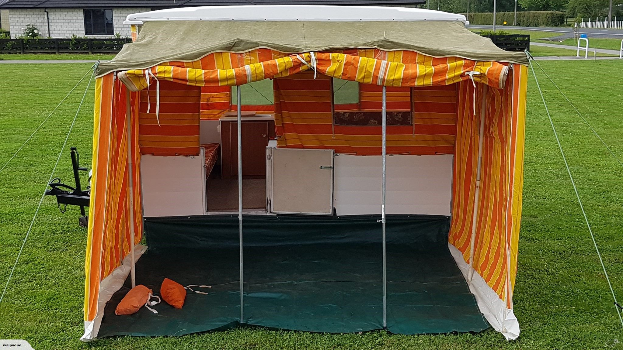 LOOK! SPRITE POP TOP CAMPER TRAILER With Awning | Trade Me ...