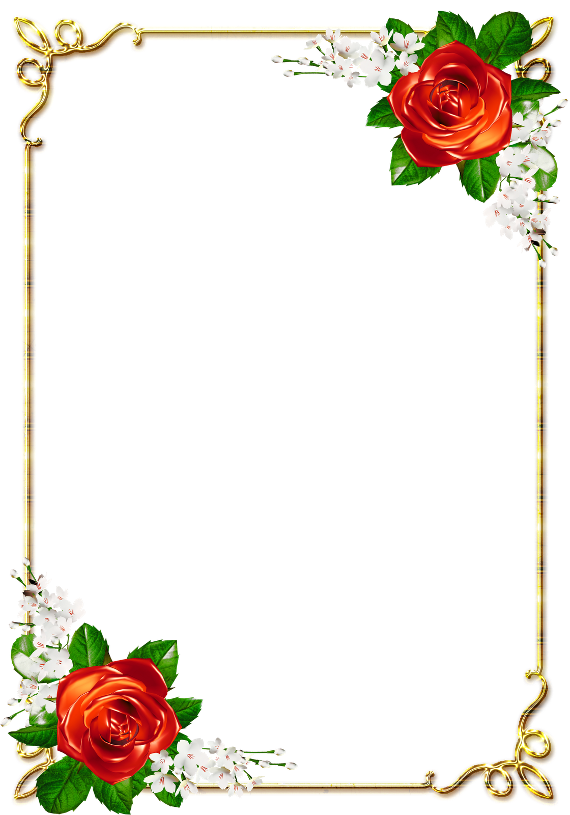 Самый лучший, рамки с розами для открыток